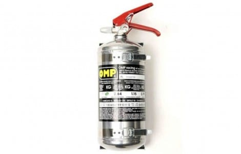 Leichtmetall-Feuerlöscher, poliert