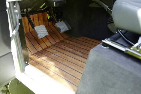 Schiffsboden-Fußraum