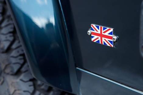 Union Jack-Emailleschild