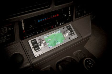 Classic-Navigationssystem, Chrome – Range Rover Classic