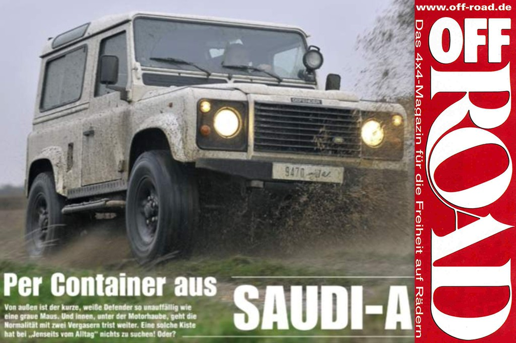 Off Road: Per Container aus Saudi-Arabien