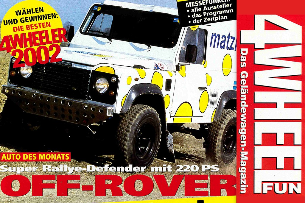 4WEEL FUN Sonderdruck: Super Rallye- Defender mit 220 PS