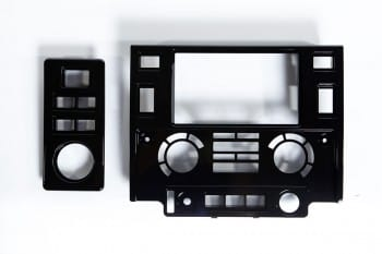 Blende für Multifunktions-Navigationssystem, Pianolack schwarz