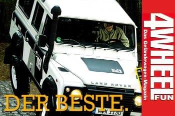 4WEEL FUN Sonderdruck: Der beste. Matzker Defender md4 Dessert- Bester im Supertest